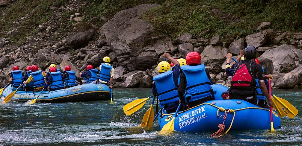 Rafting on Bhote Koshi river, Nepal