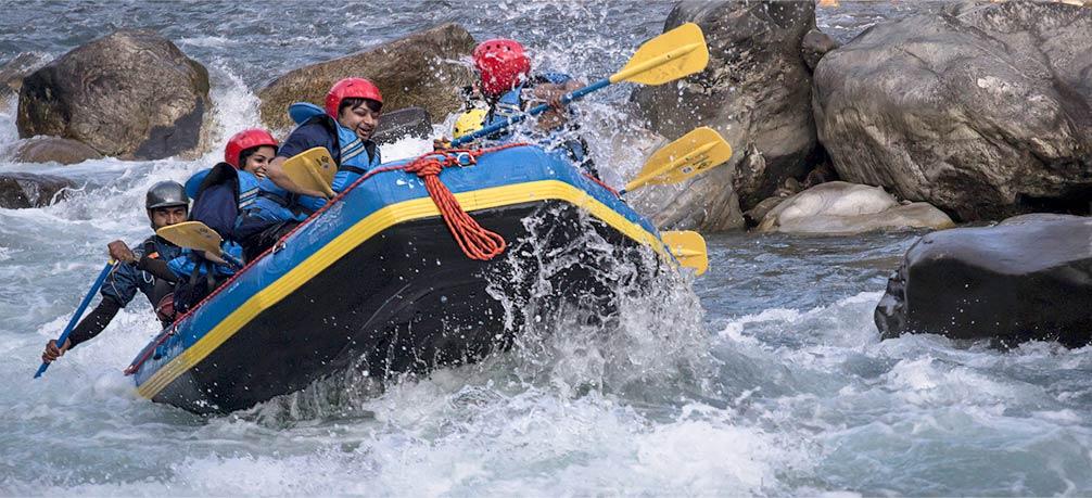 White water rafting on Bhote Koshi river, Nepal