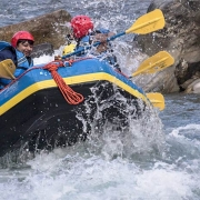 White water rafting on Bhote Koshi river, Nepal