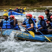 Rafting on Bhote Koshi river, Nepal