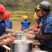 Wholesome food, Bhote Koshi river, Nepal