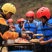 Wholesome food, Bhote Koshi river, Nepal