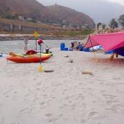 Camping Galdaha on Sun Koshi riverside, Nepal
