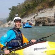 Kayaking on Sun Koshi river, Nepal
