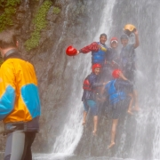 Waterfalls on Sun Koshi river, Nepal