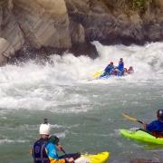 white water rafting (2nd Harkapur Rapids, Class 4+) Sun Koshi river, Nepal
