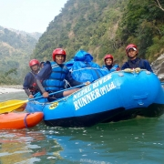 Rafting on Sun Koshi river, Nepal