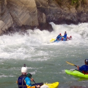 white water rafting (2nd Harkapur Rapids, Class 4+) Sun Koshi river, Nepal