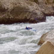 White water rafting Harkapur rapids (Class V) , Sun Koshi river, Nepal