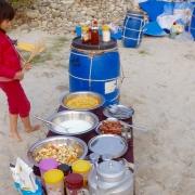 Lunch, Sun Koshi riverside, Nepal