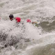 White water rafting, Sun Koshi river, Nepal