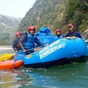 Rafting on Sun Koshi river, Nepal
