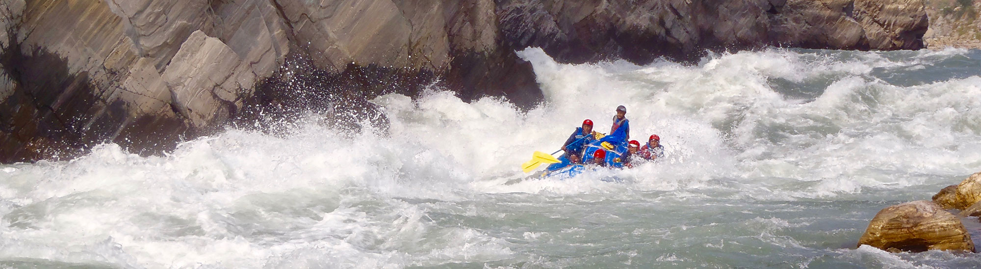 Riding the waves on Sun Koshi, come join in the adventure!